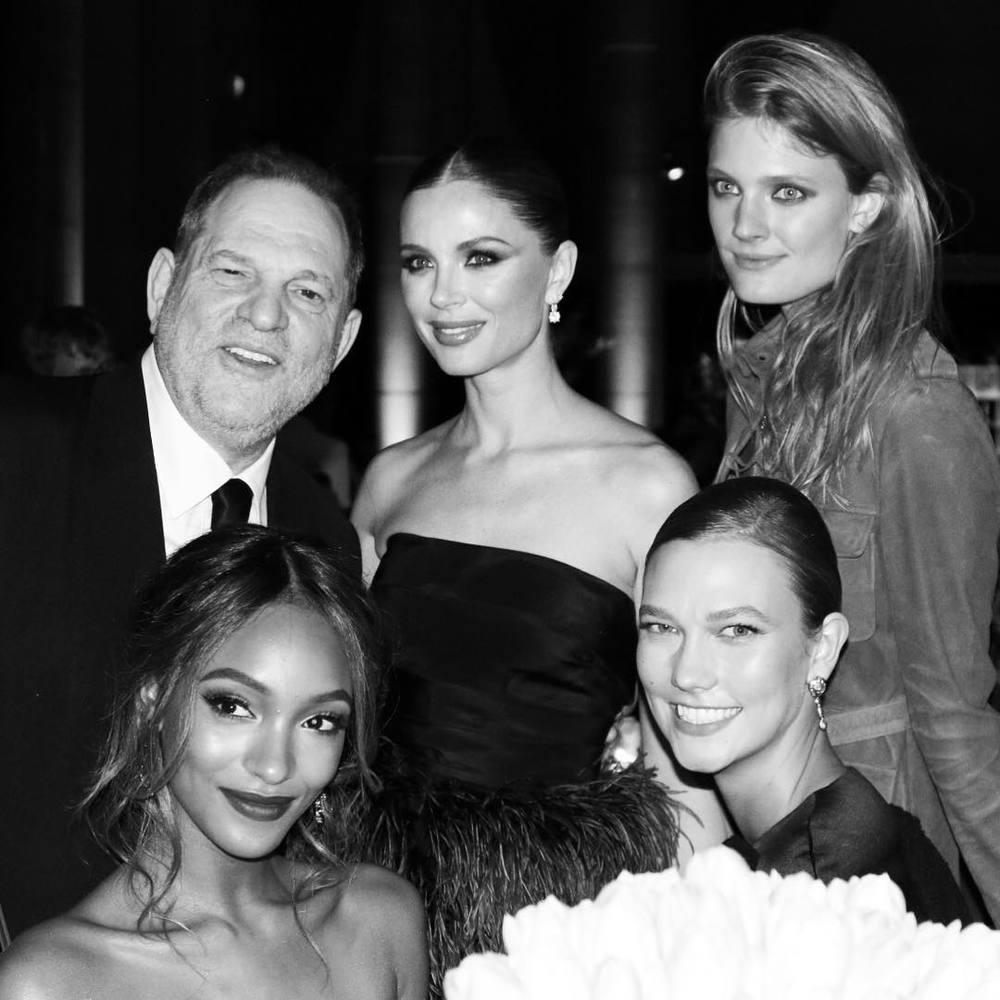 Harvey Weinstein, Georgina Chapman, Constance Jablonski, Jourdan Dunn i Karlie Kloss/Instagram: @amfar