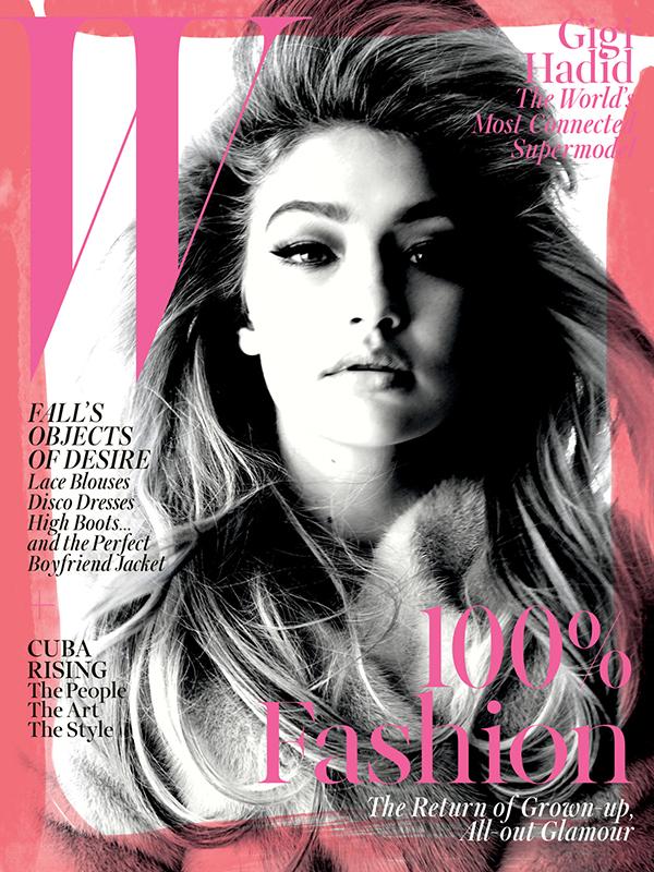 Gigi Hadid na okładce W Magazine