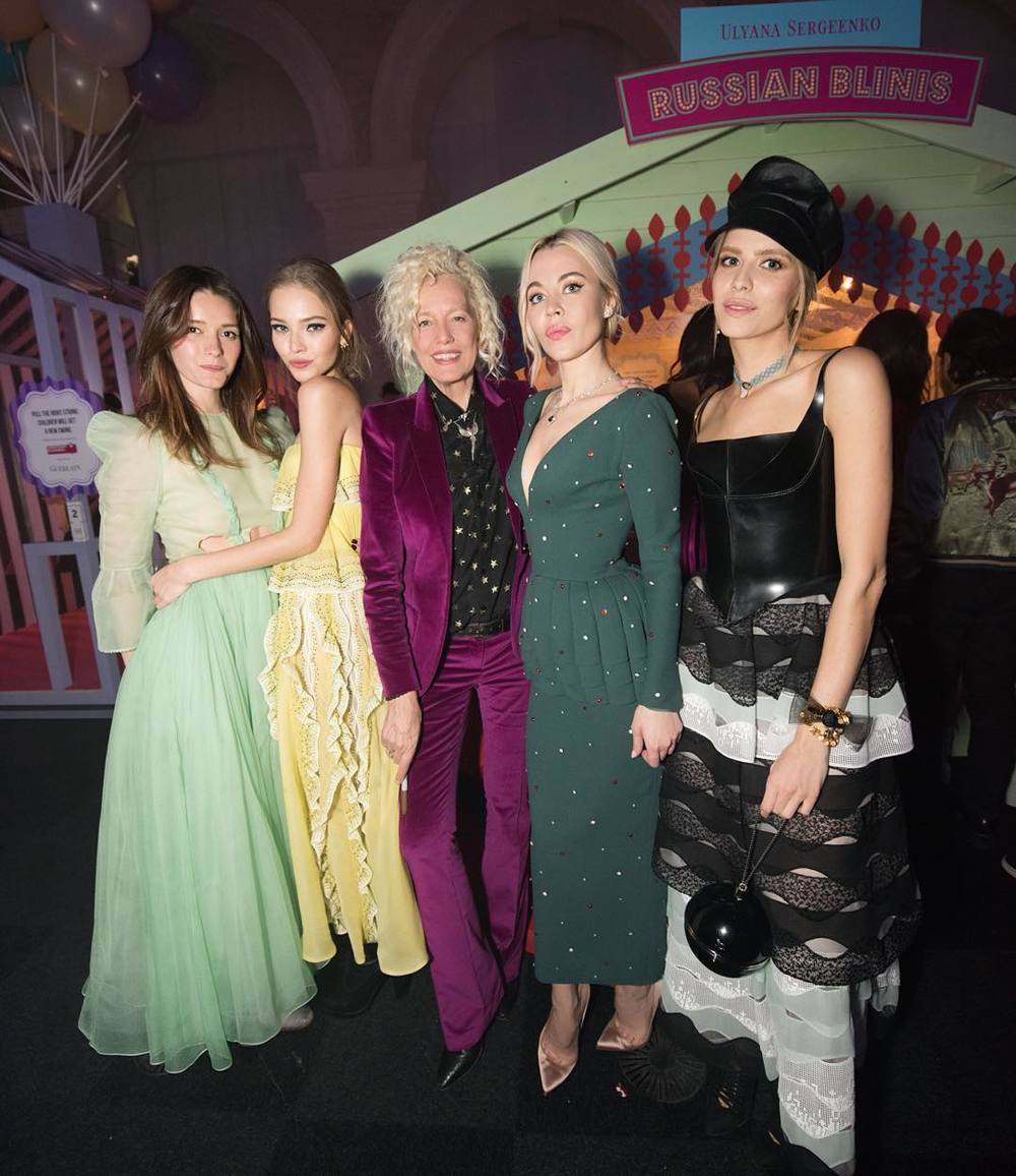 Lyza Onysko, Sasha Luss, Ellen von Unwerth, Ulyana Sergeenko i Lena Perminova/Instagram: @ulyana_sergeenko_moscow
