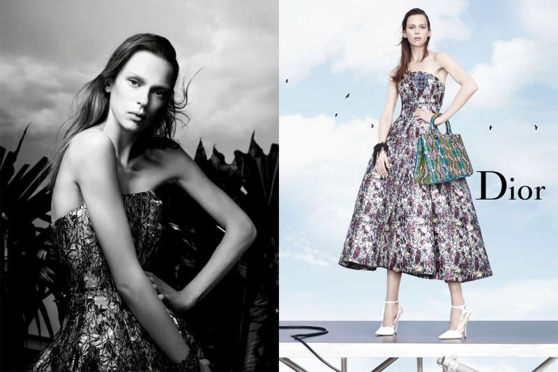 Sukienka określająca linięw kształcie kopuły -Dior wiosna-lato 2014