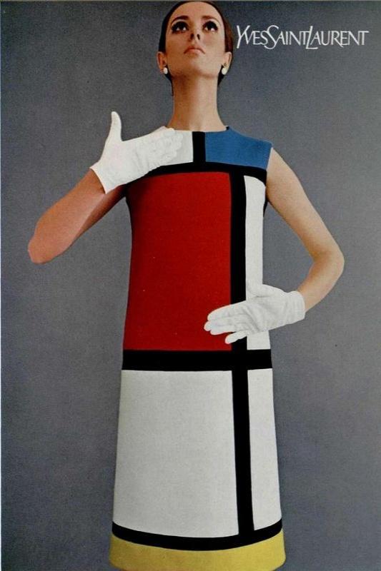 Sukienka określająca linię prostą - sukienka Mondrian Yves Saint Laurent