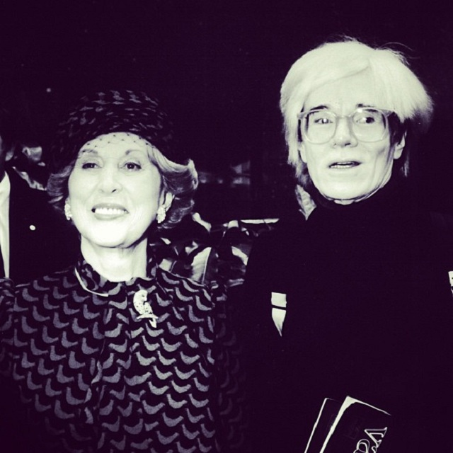 Estee Lauder i Andy Warhol/Instagram: @esteelauder