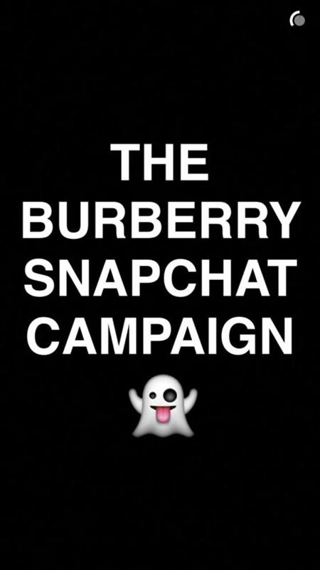 fot. materiały prasowe-kampania Burberry wiosna/lato 2016 na Snapchacie