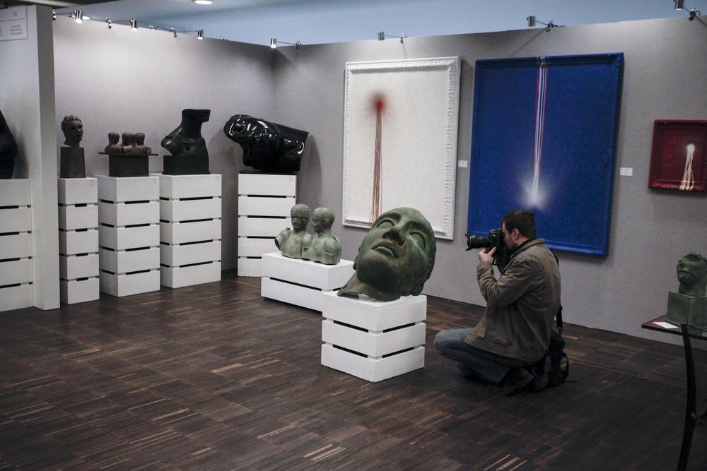 Rzeźby Igora Mitoraja - Galeria Contini Art-fot. materiały prasowe Art Fair