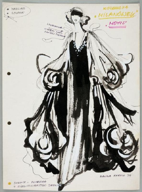 Projekt Kariny Paroll - suknia motyl dla marki Moda Polska/fot. archiwum Muzeum Narodowego w Krakowie