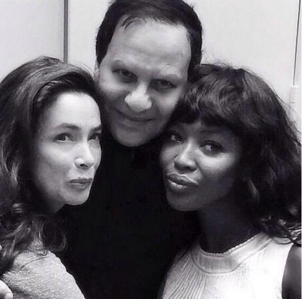 Azzedine Alaïa, Naomi Campbell i Linda Spiering/Instagram @azzedinealaiaofficial