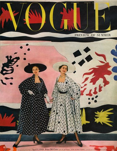 Jean Patchett and Carmen Dell'Orefice on Cecil Beaton's Matisse-inspired Vogue cover Photographed by Cecil Beaton, Vogue, April , 1949