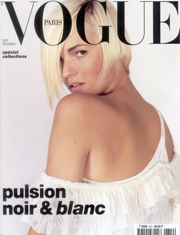 Pierwsza okładka francuskiego Vogue'a Carine Roitfeld - luty 2001