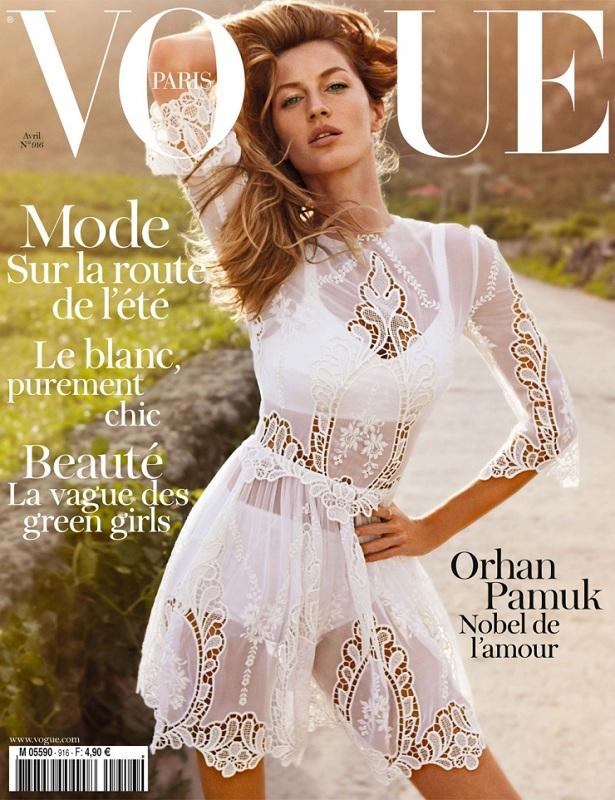 Pierwsza okładka francuskiego Vogue'a Emmanuelle Alt - kwiecień2011