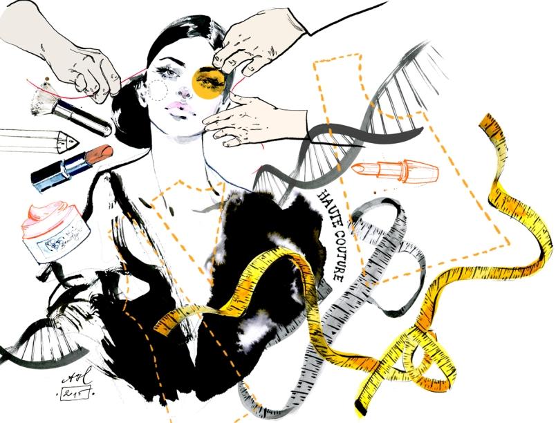 Ilustracja dla magazynu Wysokie Obcasy