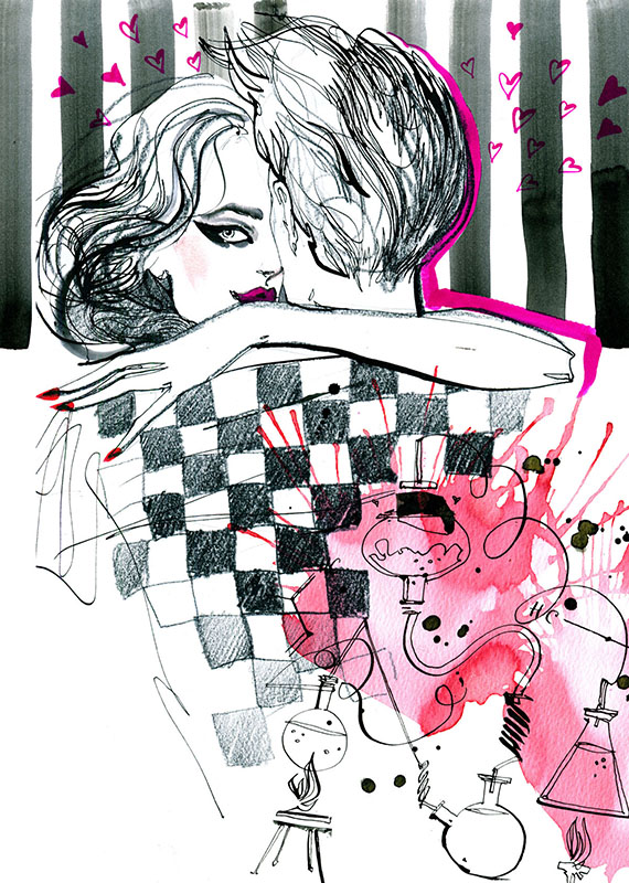 Ilustracja dla magazynu Glamour