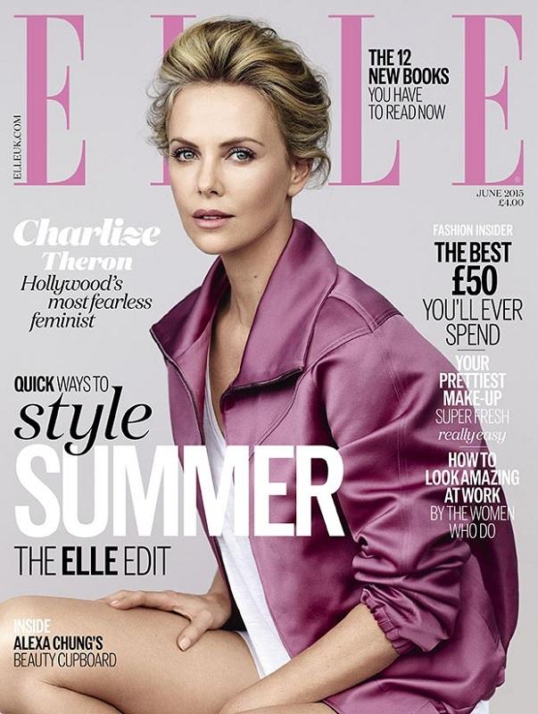 Okładka magazynu Elle UK czerwiec 2015