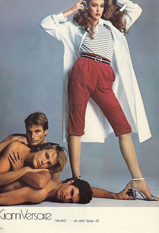 Kampania Gianni Versace 1980 roku