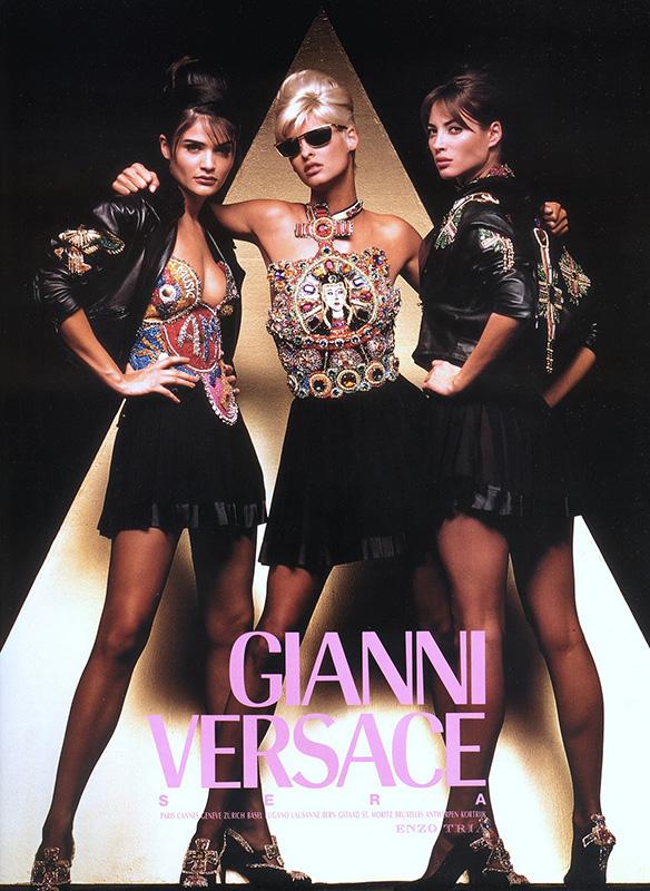 Kampania Versace z lat 90-tych