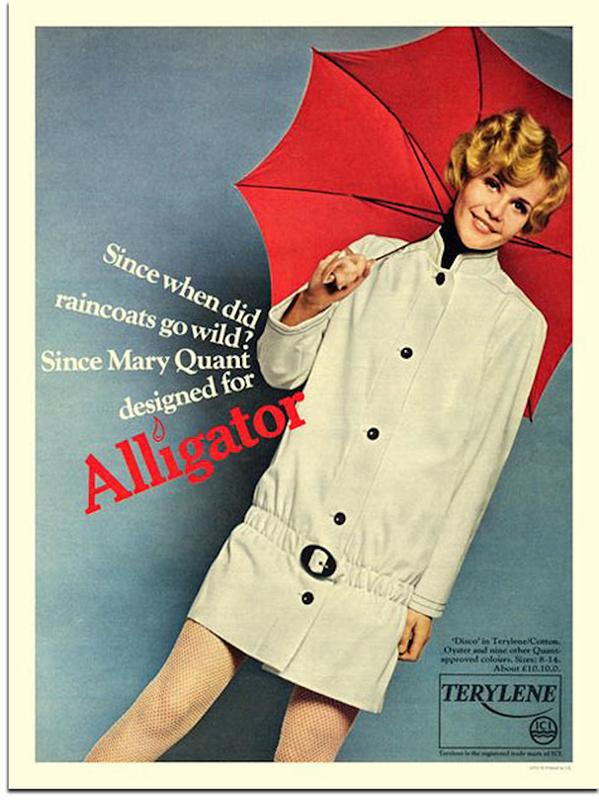 Reklama płaszcza Mary Quant