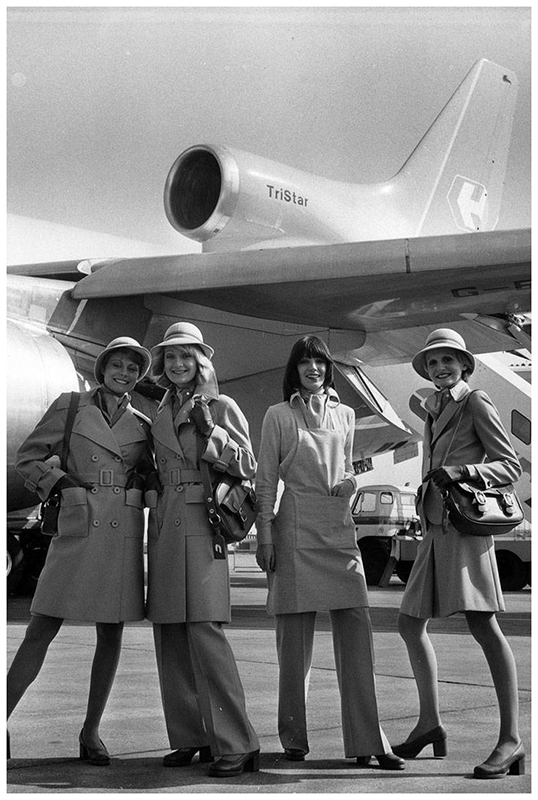 Uniformu dla Court Line Aviation projektu Mary Quant