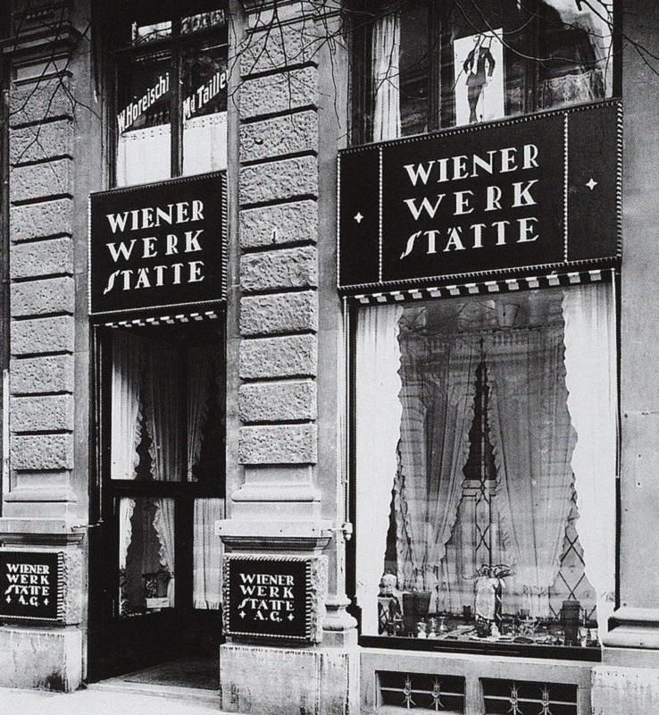 Sklep w Wiedniu z artykułami wytwarzanymi w Warsztatach Wiedeńskich