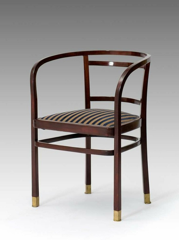 Krzesło zaprojektowane przez Otto Wagnera - Warsztaty Wiedeńskie