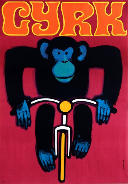 """Wiktor Górka - """"Cyrk małpka na rowerze"""" 1974"""