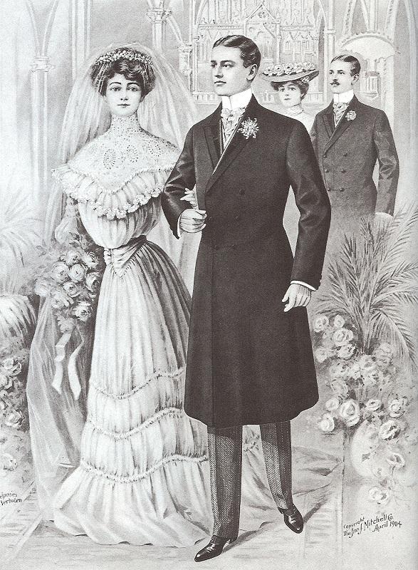 Męski surdut z 1904 roku