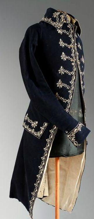 Męski surdut z XVIII wieku
