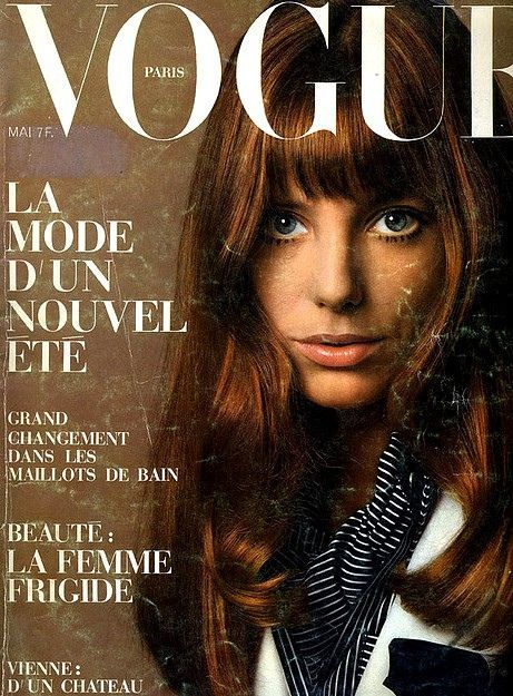 Jane Birkin na okładce Vogue Paris, 1969