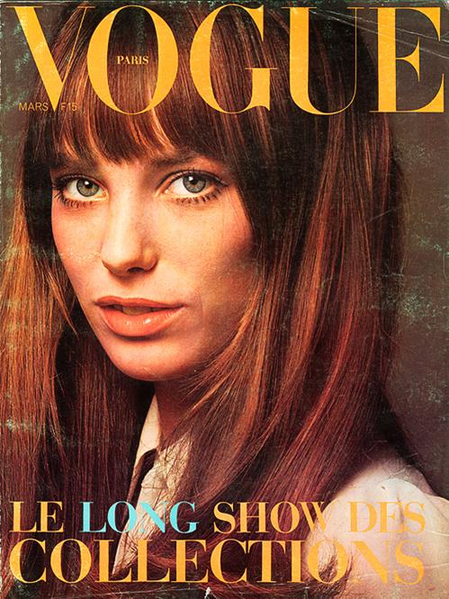 Jane Birkin na okładce Vogue Paris, 1970
