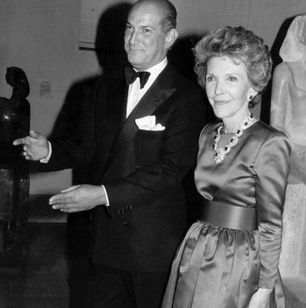 Oscar de la Renta i Nancy Reagan/Instagram @oscardelarenta