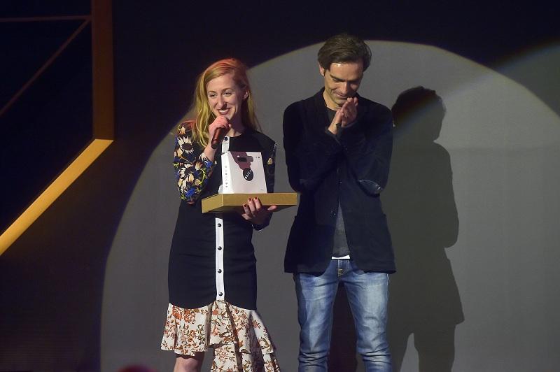 Laureatka kategorii Fashion Writing Magda Machajska i mentor Piotr Zachara/fot. materiały prasowe Art & Fashion Forum by Grażyna Kulczyk