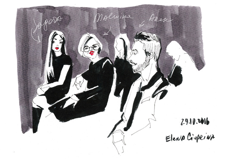 Ilustracja  reportażu z Art & Fashion Forum autorstwa Eleny Ciupriny