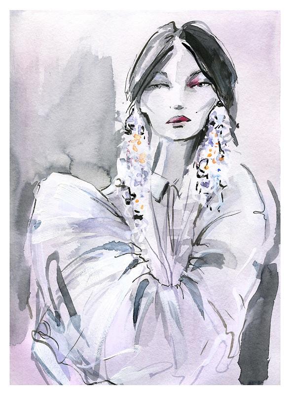 Pokaz Delpozo - portret/Ilustracja: Elena Ciuprina