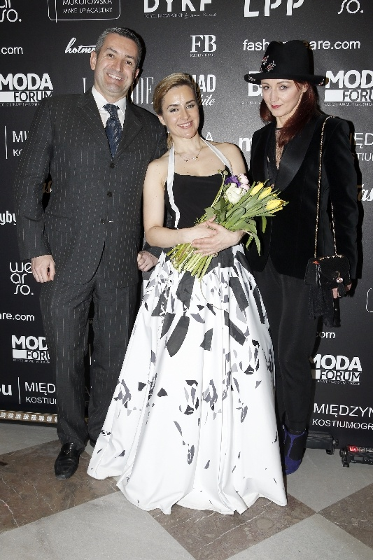 od lewej/ Alberto Campagnolo, Magdalena Płonka, Monika Ciesiolkiewicz
