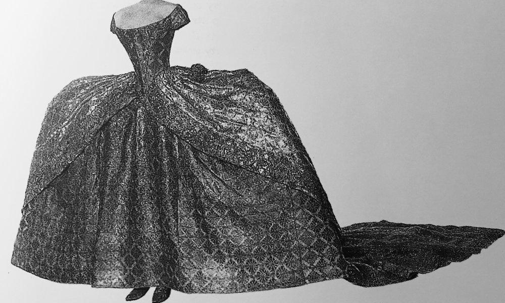 """Fotografia pochodząca z książki """"Historia mody"""" Francois Boucher wyd. Arkady"""
