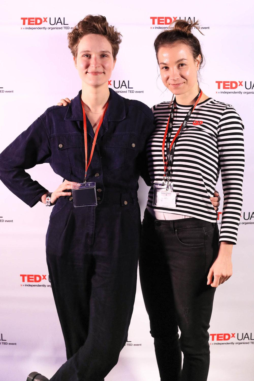 Ola i Felicitas Olschewski podczas Tedx na University of Arts w Londynie/fot. archiwum prywatne