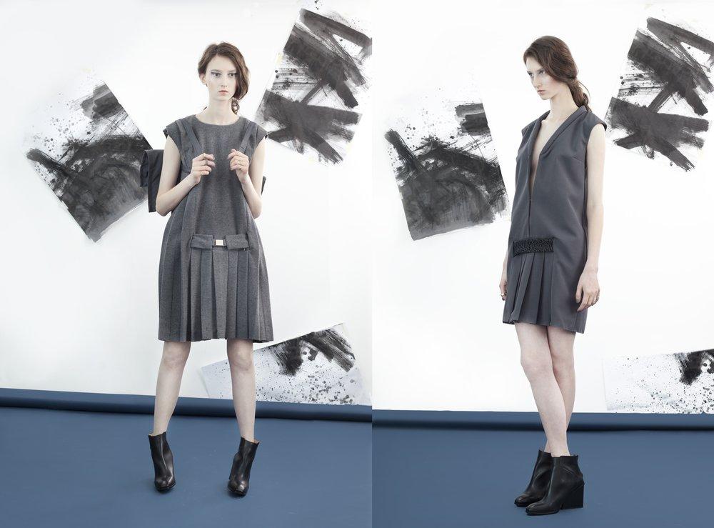 kolekcja dyplomowa Oli/fot. Monika Jelińska, modelka Klementyna Dmowska