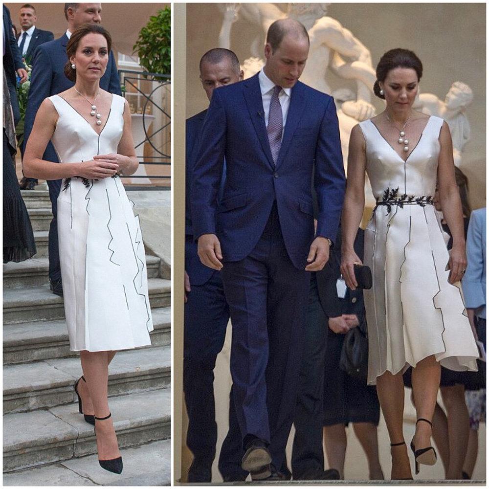 Książę William i Księżna Kate w sukience projektu Gosi Baczyńskiej/Instagram: @katemidleton