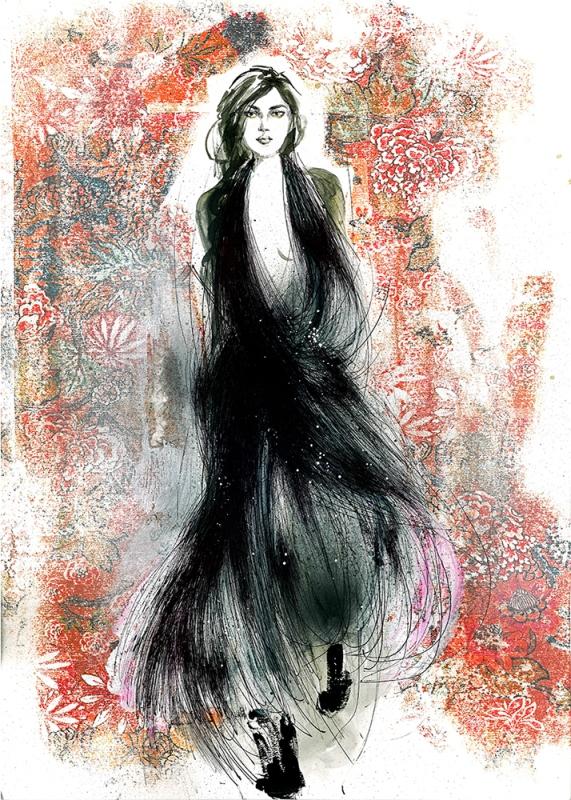 Ilustracja wykonana podczas Art&Fashion Forum 2014/Ilustracja: Sylwia Dębicka