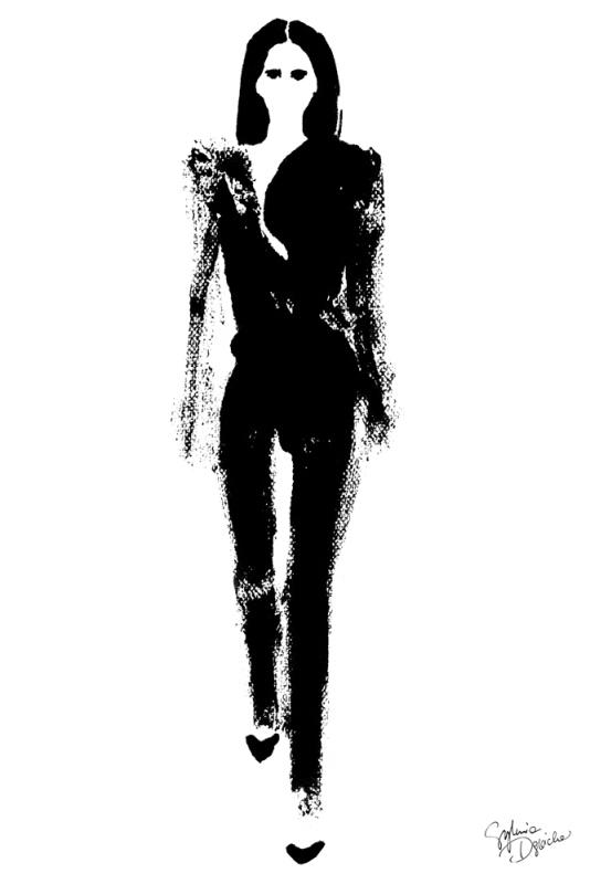 Ilustracja projektu Givenchy/Ilustracja: Sylwia Dębicka