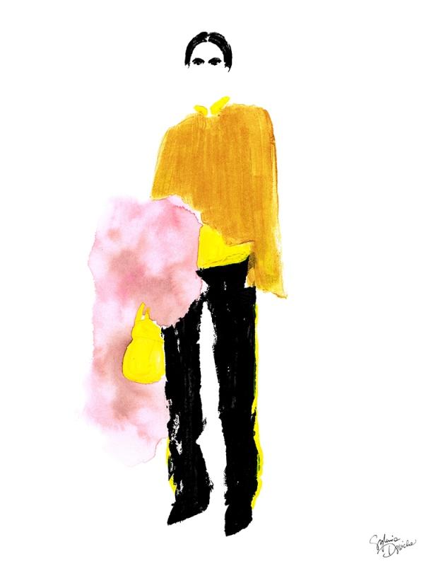 Ilustracja projektu Givenchy z kolekcji pre-fall 2017/Ilustracja: Sylwia Dębicka