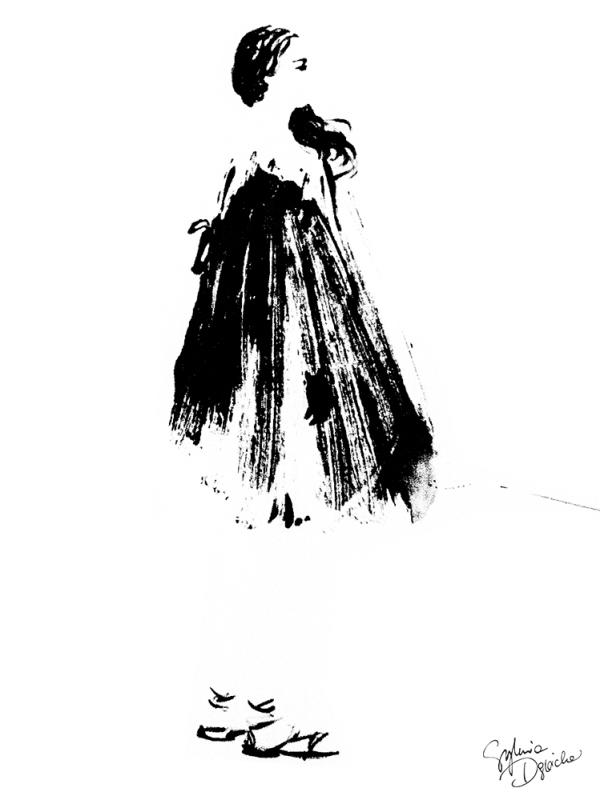 """""""Parisienne 1""""/Ilustracja: Sylwia Dębicka"""