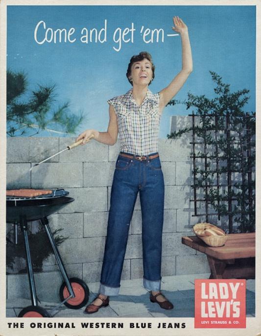 Jedna z pierwszych kampanii marki Levi's