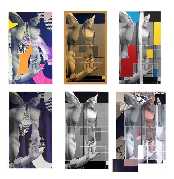 Screenprinting collage/Wykonanie: Aneta Klejnowska