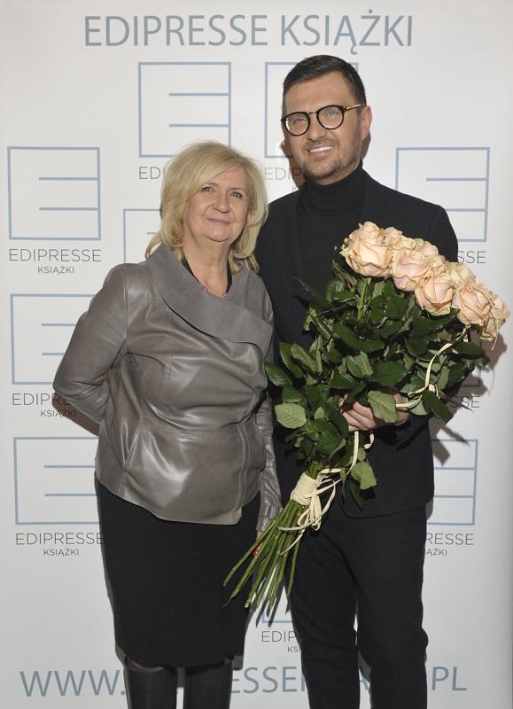 Maciej Zień z mamą