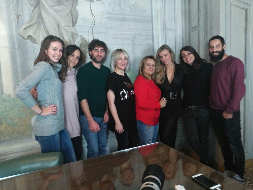 Team LuisaViaRoma: Iryna, Silvia, Daniele oraz Anna Puślecka, Gosia Urbańska, Joanna Krupa, Giulia i Mattia