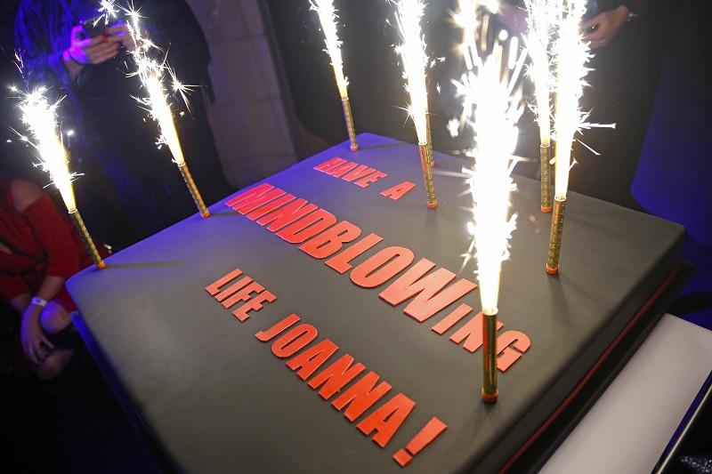 Tort urodzinowy Joanny Przetakiewicz/ - dyrektor kreatywnej La Manii/Fot. AKPA