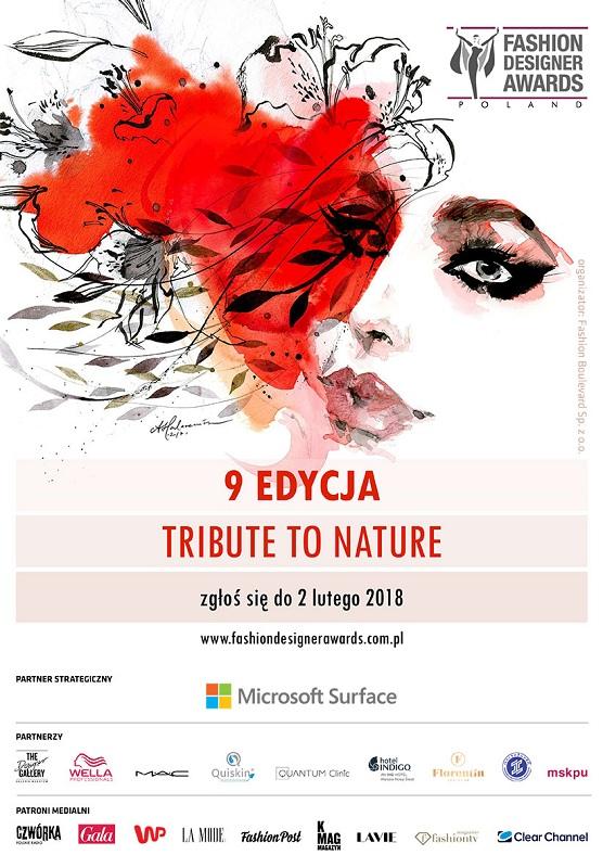 Plakat promujący 9. edycję konkursu Fashion Designer Awards