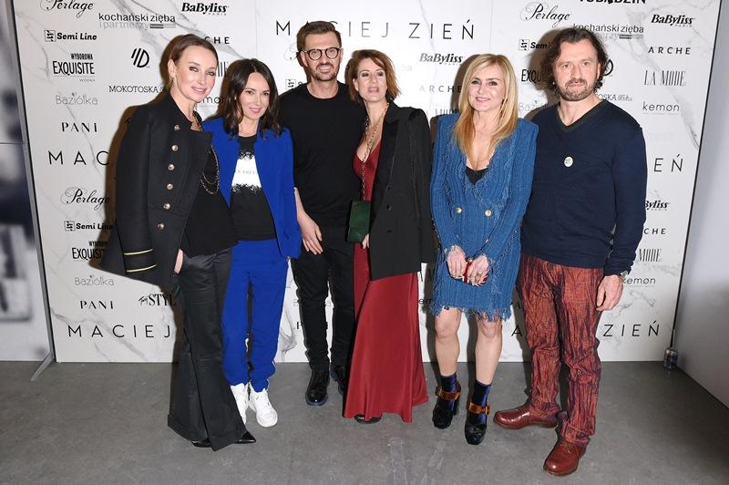 Dorota Williams, Kasia Kowalska, Maciej Zień, Maja Ostaszewska, Monika Olejnik i Tomasz Ziółkowski/fot.Andrzej Marchwiński - Fashion Images