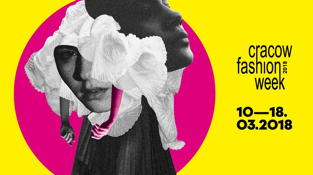 Plakat promujący Cracow Fashion Week 2018