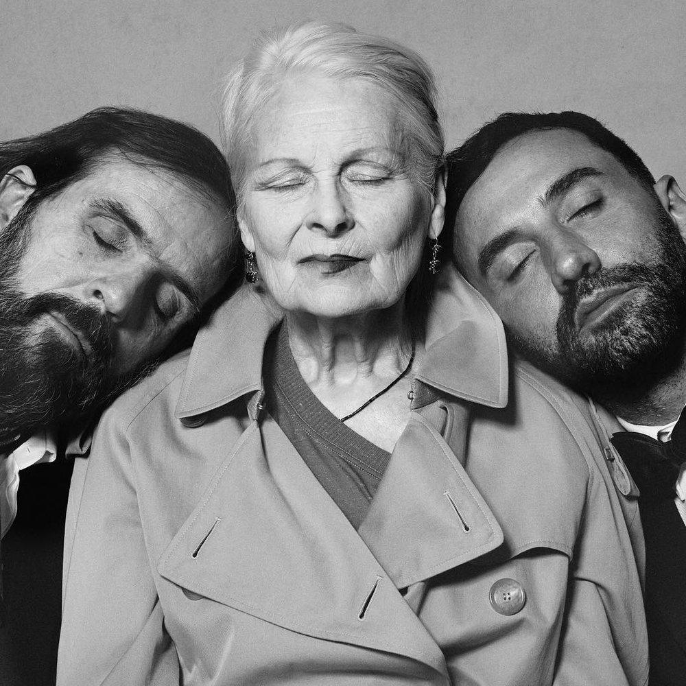 Andreas Kronthaler, Vivienne Westwood i Riccardo Tisci/Instagram: @riccardotisci17