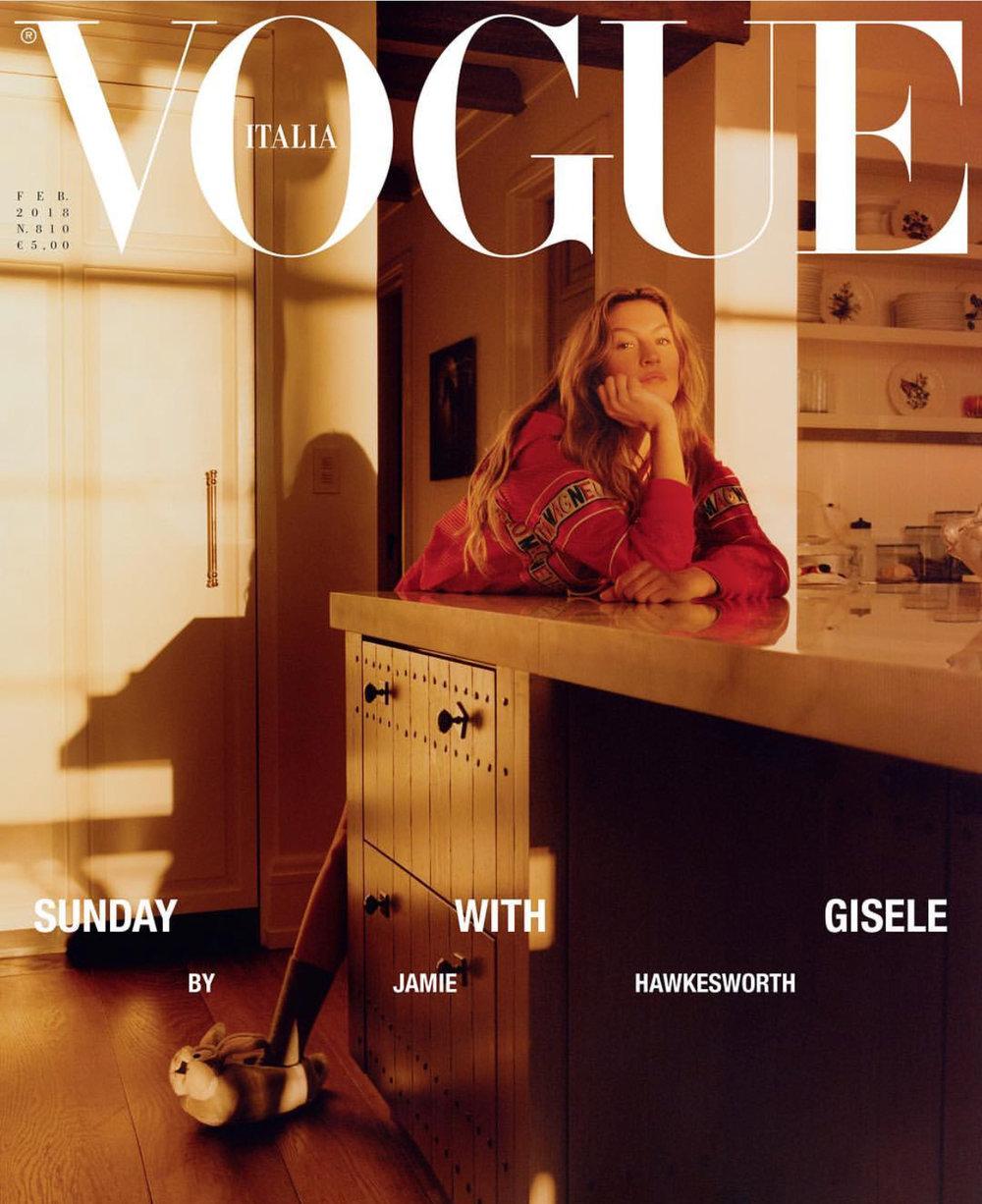 Gisele na okładce Vogue Italia fot. Instagram: @gisele